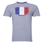 France FIFA World Cup Brazil(TM) Men's Premium Flag T-Shirt (Gray)