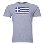 Greece FIFA World Cup Brazil(TM) Men's Premium Flag T-Shirt (Gray)