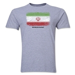 Iran FIFA World Cup Brazil(TM) Men's Premium Flag T-Shirt (Gray)