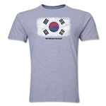 South Korea FIFA World Cup Brazil(TM) Men's Premium Flag T-Shirt (Gray)
