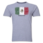 Mexico FIFA World Cup Brazil(TM) Men's Premium Flag T-Shirt (Gray)