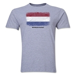 Netherlands FIFA World Cup Brazil(TM) Men's Premium Flag T-Shirt (Gray)