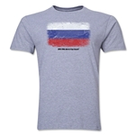 Russia FIFA World Cup Brazil(TM) Men's Premium Flag T-Shirt (Gray)