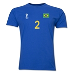 Brazil FIFA World Cup Brazil(TM) Men's Number 2 T-Shirt (Royal)