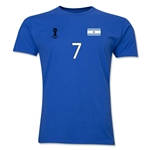 Argentina FIFA World Cup Brazil(TM) Men's Number 7 T-Shirt (Royal)