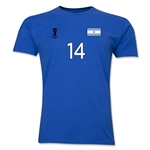 Argentina FIFA World Cup Brazil(TM) Men's Number 14 T-Shirt (Royal)