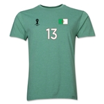 Algeria FIFA World Cup Brazil(TM) Men's Number 13 T-Shirt (Heather Green)