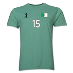 Algeria FIFA World Cup Brazil(TM) Men's Number 15 T-Shirt (Heather Green)