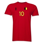 Belgium FIFA World Cup Brazil(TM) Men's Number 10 T-Shirt (Red)