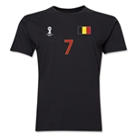 Belgium FIFA World Cup Brazil(TM) Men's Number 7 T-Shirt (Black)