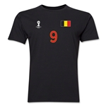 Belgium FIFA World Cup Brazil(TM) Men's Number 9 T-Shirt (Black)