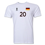 Germany FIFA World Cup Brazil(TM) Men's Number 20 T-Shirt (White)