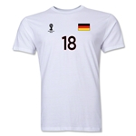 Germany FIFA World Cup Brazil(TM) Men's Number 4 T-Shirt (White)