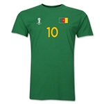 Cameroon FIFA World Cup Brazil(TM) Men's Number 10 T-Shirt (Green)