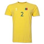 Cameroon FIFA World Cup Brazil(TM) Men's Number 2 T-Shirt (Yellow)