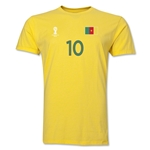 Cameroon FIFA World Cup Brazil(TM) Men's Number 10 T-Shirt (Yellow)