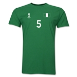 Nigeria FIFA World Cup Brazil(TM) Men's Number 5 T-Shirt (Green)