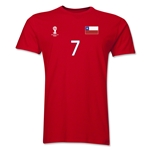 Chile FIFA World Cup Brazil(TM) Men's Number 7 T-Shirt (Red)