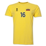Ecuador FIFA World Cup Brazil(TM) Men's Number 16 T-Shirt (Yellow)