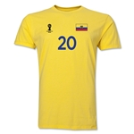 Ecuador FIFA World Cup Brazil(TM) Men's Number 20 T-Shirt (Yellow)