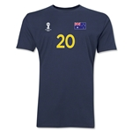 Australia FIFA World Cup Brazil(TM) Men's Number 20 T-Shirt (Navy)