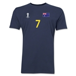 Australia FIFA World Cup Brazil(TM) Men's Number 7 T-Shirt (Navy)