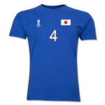 Japan FIFA World Cup Brazil(TM) Men's Number 4 T-Shirt (Royal)