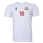 Iran FIFA World Cup Brazil(TM) Men's Number 18 T-Shirt (White)