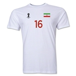 Iran FIFA World Cup Brazil(TM) Men's Number 16 T-Shirt (White)