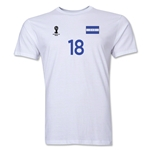 Honduras FIFA World Cup Brazil(TM) Men's Number 18 T-Shirt (White)