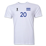 Honduras FIFA World Cup Brazil(TM) Men's Number 20 T-Shirt (White)