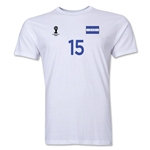 Honduras FIFA World Cup Brazil(TM) Men's Number 15 T-Shirt (White)