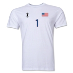USA FIFA World Cup Brazil(TM) Men's Number 1 T-Shirt (White)