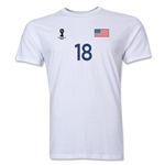 USA FIFA World Cup Brazil(TM) Men's Number 18 T-Shirt (White)