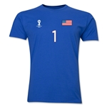 USA FIFA World Cup Brazil(TM) Men's Number 1 T-Shirt (Royal)