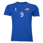 USA FIFA World Cup Brazil(TM) Men's Number 9 T-Shirt (Royal)