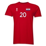 Croatia FIFA World Cup Brazil(TM) Men's Number 20 T-Shirt (Red)