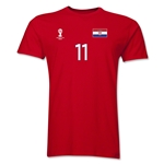 Croatia FIFA World Cup Brazil(TM) Men's Number 11 T-Shirt (Red)