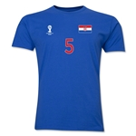Croatia FIFA World Cup Brazil(TM) Men's Number 5 T-Shirt (Royal)