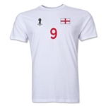 England FIFA World Cup Brazil(TM) Men's Number 9 T-Shirt (White)