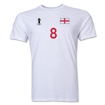 England FIFA World Cup Brazil(TM) Men's Number 8 T-Shirt (White)