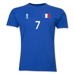 France FIFA World Cup Brazil(TM) Men's Number 7 T-Shirt (Royal)