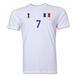 France FIFA World Cup Brazil(TM) Men's Number 7 T-Shirt (White)