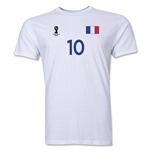 France FIFA World Cup Brazil(TM) Men's Number 10 T-Shirt (White)