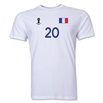 France FIFA World Cup Brazil(TM) Men's Number 20 T-Shirt (White)