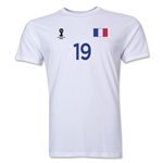 France FIFA World Cup Brazil(TM) Men's Number 19 T-Shirt (White)
