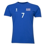 Greece FIFA World Cup Brazil(TM) Men's Number 7 T-Shirt (Royal)