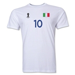 Italy FIFA World Cup Brazil(TM) Men's Number 10 Premium T-Shirt (White)