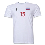 Russia FIFA World Cup Brazil(TM) Men's Number 15 Premium T-Shirt (White)