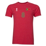 Portugal FIFA World Cup Brazil(TM) Men's Number 8 Premium T-Shirt (Heather Red)